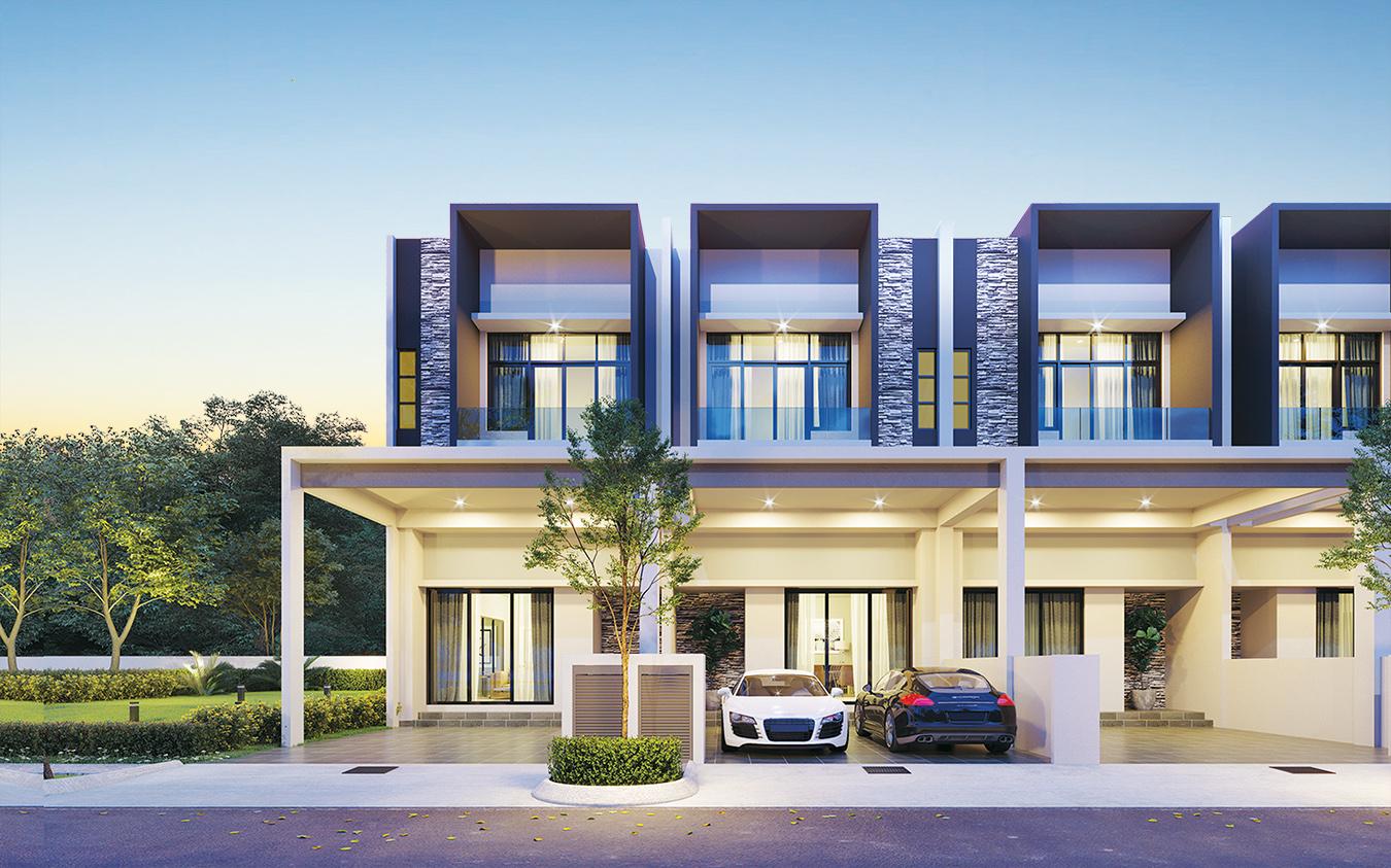 Taman Bukit Cheng - double storey link house